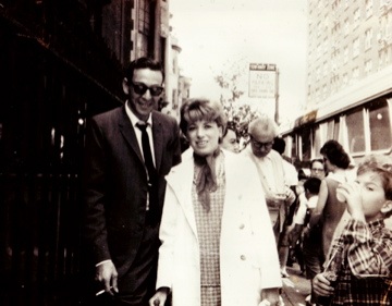 Fred and Faye young in NY streets